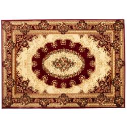 Dywan Yesemek 5889A RED - KWIATY bordowy